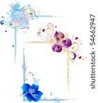 vignettes for framework with... | Shutterstock .eps vector #54662947