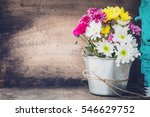 beautiful flower bouquet in... | Shutterstock . vector #546629752