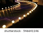 empty runway fashion show with...   Shutterstock . vector #546641146
