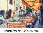 street summer restaurant with... | Shutterstock . vector #546642706