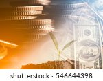 double exposure of city and... | Shutterstock . vector #546644398