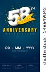 58 years anniversary invitation ... | Shutterstock .eps vector #546649042