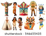 native american indians and... | Shutterstock .eps vector #546655435