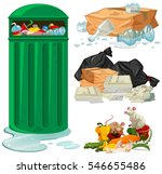 trashcan and different types of ... | Shutterstock .eps vector #546655486