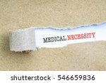the text medical necessity... | Shutterstock . vector #546659836