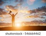 happy celebrating winning... | Shutterstock . vector #546664462