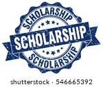 scholarship. stamp. sticker.... | Shutterstock .eps vector #546665392