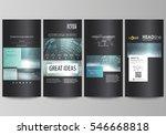 flyers set  modern banners....   Shutterstock .eps vector #546668818