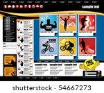 website layout | Shutterstock .eps vector #54667273