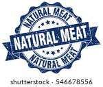 natural meat. stamp. sticker.... | Shutterstock .eps vector #546678556