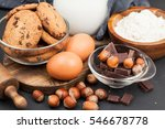 ingredients for baking on a... | Shutterstock . vector #546678778