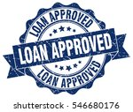loan approved. stamp. sticker.... | Shutterstock .eps vector #546680176