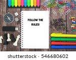 follow the rules  | Shutterstock . vector #546680602