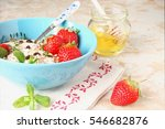 cereal with grapes and... | Shutterstock . vector #546682876