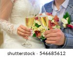 husband and wife drinking wine... | Shutterstock . vector #546685612