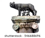 the capitoline wolf  statue of... | Shutterstock . vector #546688696