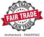 fair trade. stamp. sticker.... | Shutterstock .eps vector #546690562