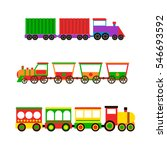 toy train vector illustration. | Shutterstock .eps vector #546693592