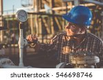 man checking manometer in... | Shutterstock . vector #546698746