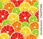 seamless pattern with citrus... | Shutterstock .eps vector #546699586