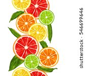 Seamless Pattern With Citrus...