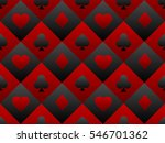 Black And Red Seamless Pattern...