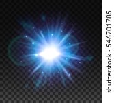 flash burst of star light with... | Shutterstock .eps vector #546701785