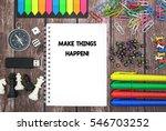 make things happen  | Shutterstock . vector #546703252