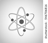 atom icon in flat design. gray... | Shutterstock .eps vector #546706816