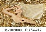gold fashion hair style  blonde ... | Shutterstock . vector #546711352