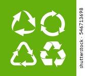 eco cycle arrows icon set... | Shutterstock .eps vector #546713698