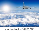 several aircraftes in blue sky   Shutterstock . vector #54671635