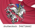 3d flag of moscow  russia. 3d... | Shutterstock . vector #546716662