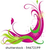 purple abstract ornament with... | Shutterstock .eps vector #54672199