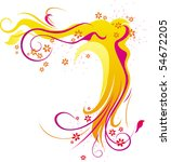 orange abstract ornament with...   Shutterstock .eps vector #54672205