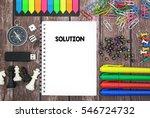 solution | Shutterstock . vector #546724732