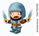cartoon funny knight   isolated ... | Shutterstock . vector #546730348