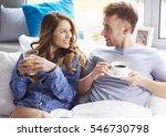 good morning with orange juice... | Shutterstock . vector #546730798