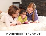 portrait of two women and a...   Shutterstock . vector #54673495