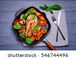 Iron Cast Pan With Slice Of Re...