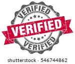 verified. stamp. sticker. seal. ... | Shutterstock .eps vector #546744862
