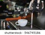 coffee latte art in coffee shop | Shutterstock . vector #546745186