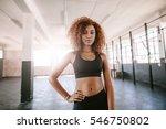 portrait of determined african... | Shutterstock . vector #546750802