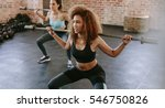 african woman exercising with... | Shutterstock . vector #546750826