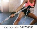 cropped shot of strong young... | Shutterstock . vector #546750835