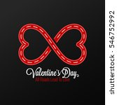 valentines day concept design... | Shutterstock .eps vector #546752992