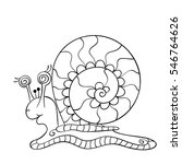 snail isolated line art  page... | Shutterstock .eps vector #546764626