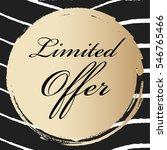 limited offer elegant lettering ... | Shutterstock .eps vector #546765466