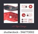 polygonal brochure  a4 flyer... | Shutterstock .eps vector #546773002
