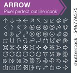 set of thin line arrow icons... | Shutterstock .eps vector #546776575